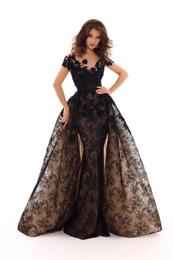 Evening Dress With Overskirt