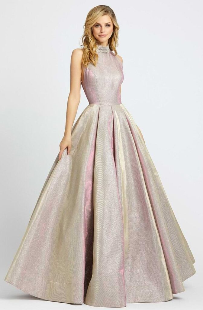 Metallic Ball Gown